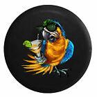 Tropical Parrot Macaw with Sunglass & Cocktail  Jeep RV Camper Spare Tire Cover
