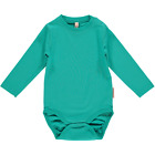 BNWT Baby Boys Girls Maxomorra Turquoise Long Sleeved Bodysuit NEW Organic Vest