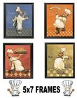 Fat Chef Pictures 5x7 Wall Hangings Cooking Chefs Kitchen Home Decor