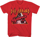 Def Leppard: Hysteria '87 Red T-Shirt  NEW  Official