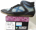 MUNICH LASART HIGH-TOP LEATHER SNEAKERS. MADE IN SPAIN. NIB $195. SZ 45/11 M