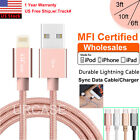 Lot Mfi Certified Apple Lightning Data Sync Cable Charger F Iphone 8 7 Plus 6 6s