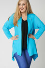 PLUS SIZE LADIES WOMENS COMFY HIGH QUALITY SHAWL COLLAR LONG SLEEVES CARDIGAN