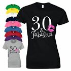 30th Birthday Gift T-Shirt 30 And Fabulous Made In 1988 Love Kiss Ladies Tee Top