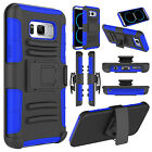 Hybrid Kickstand Rugged Belt Clip Hard Case Cover For Samsung Galaxy S8/Edge/S8+