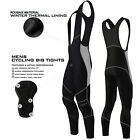 Mens Cycling Bib Tights Padded Winter Wear Long Pant Cycle Thermal Trousers