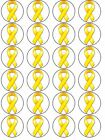 sarcoma Awareness Charity yellow ribbon cupcake Toppers Wafer Icing Decoration24