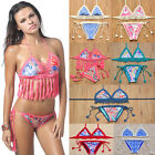 Sexy Women Crochet Bikini Set Handmade Knitted Swimwear Push Up Bathing Swimsuit