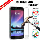 Premium Real Tempered Glass Film Screen Protector Saver For LG K10 2017 LV5 5.3""