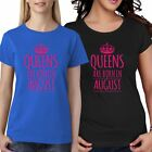 Queens Are Born In August Girls Short Sleeve T Shirt Womens Parties Dress Lot