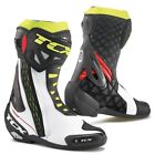 TCX RT-Race Race Track Sports Motorbike Motorcycle Boots - White/Red/Yellow