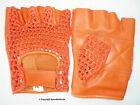 CYCLING GLOVES LEATHER COTTON ORANGE M.L.oder XL NEW