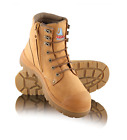 New Steel Blue Argyle 332152 Lace-up Side Zip Bump Cap Safety Boots Wheat