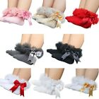 Toddler Baby Girls Cotton Ankle Socks Bowknot Princess Lace Anti-slip Socks 0-5Y