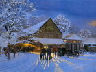 County Auction Winter Landscape Painting Art HUGE GIANT PRINT POSTER