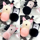 Cat Ear Fur Tail Ball Clear Case Cover For Apple iPhone 5 6 6S Plus 7 7Plus HOT