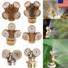 2-4Hole Adjustable Brass Sprayer Misting Nozzle Head Garden Sprinkler Irrigation