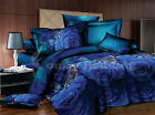 Blue Roses Bedding Set: Comforter (Duvet Insert), Duvet Cover & Pillowcases