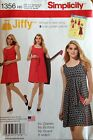 Simplicity 1356 Misses Jiffy Reversible Wrap Dress  Sizes: 6-14 & 14-22 You Pick