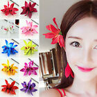 HA Women's Butterfly Orchid Flower Hair Clip Barrette Pin Bridal Wedding Party