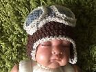 Crochet handmade girl Boy Aviator Hat Photo Prop,Newborn size baby child adult