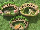 Garden Welcome Plaque Garden Animal Hanging Welcome Sign - Brand New