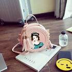 Circular Round Small Girl Kids Women Lady Pink Shoulder Bag Handbag Tote Lovely