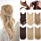 Handmade Human Remy Halo Secret Invisible Wire Hair Extension 80g Black Blonde