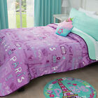 Girls and Teens Twin and Queen Size Bonjour Paris Light Comforter Set