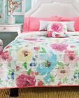 Girls and Teens Twin, Queen and King Florida Comforter Set with Curtains