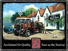 ALBION FLAT BED LORRY BREWERY KEGS PUB NOSTALGIC VINTAGE SIGN METAL PLAQUE 687