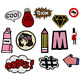 13PCS Pencil Beauty Photo Frame Symbol Bulb Embroidery Patch Iron On Patches Lot