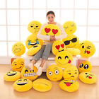 "21 Styles Emoji Emoticon Round Cushion Poo Stuffed Soft 12"" Pillow Plush Gift UK"
