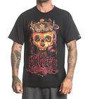 SULLEN COLOURFUL CROWN OF ROSES SKULL TATTOO T SHIRT S M L XL 2XL 3XL NEW UK