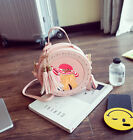 Circular Round Small Girl Kids Women Lady Pink Shoulder Bag Handbag Tote Cute