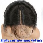 "3 Part Remy Lace Front Closure Piece 4x4"" Silk Straight Top Closure Bleach knots"