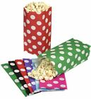 100 POLKA DOT PICK AND N MIX PARTY BAGS - CANDY SWEET POPCORN BAG