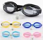 Kids Swimming Glasses Adjustable Waterproof Anti fog Goggles  Ear & Nose plugs