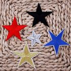 10X Silver Star Iron on Embroidered Patch Trimming Applique Craft Faribc Sticker