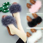 Personality cute ostrich feather casual thick non-slip slippers Sandal Flip Flop