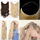 Thick Long Human Remy Halo Body Wave Secret Invisible Wire  Hair Extension 120g