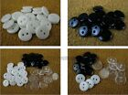 Resin sewing scrapbook shirt Buttons 5-30mm white black Transparent 200pc 100pc