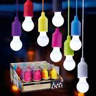 LED Retro light bulb on a cord portable camping child safe in 8 fab colours