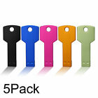 5 Pack 1G 2G 4G 8G 16G USB2.0 Flash Drive Thumb Memory Stick Metal Key Pen Drive
