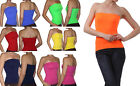 Strapless Tube Top Long Bandeau Seamless Stretch Ribbed Basic Layering-1113
