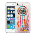 For Apple iPhone 5C Bling Hybrid Liquid Glitter Rubber TPU Protective Case Cover