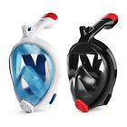 HOMPO Full Face Snorkel Mask 180° Larger Viewing Foldable Snorkeling Mask