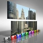 Downtown Chicago 2 Duo Offset Canvas Print Large Picture Wall Art