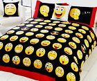 Rapport Icons Yellow Emoji Bedding Happy Cotton Rich Duvet Set Bedding