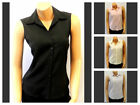 New Ladies Original Vintage 1980's Classic sleeveless Rockabilly Blouse